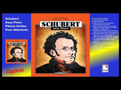 Partitions - Schubert easy piano - pour débutants