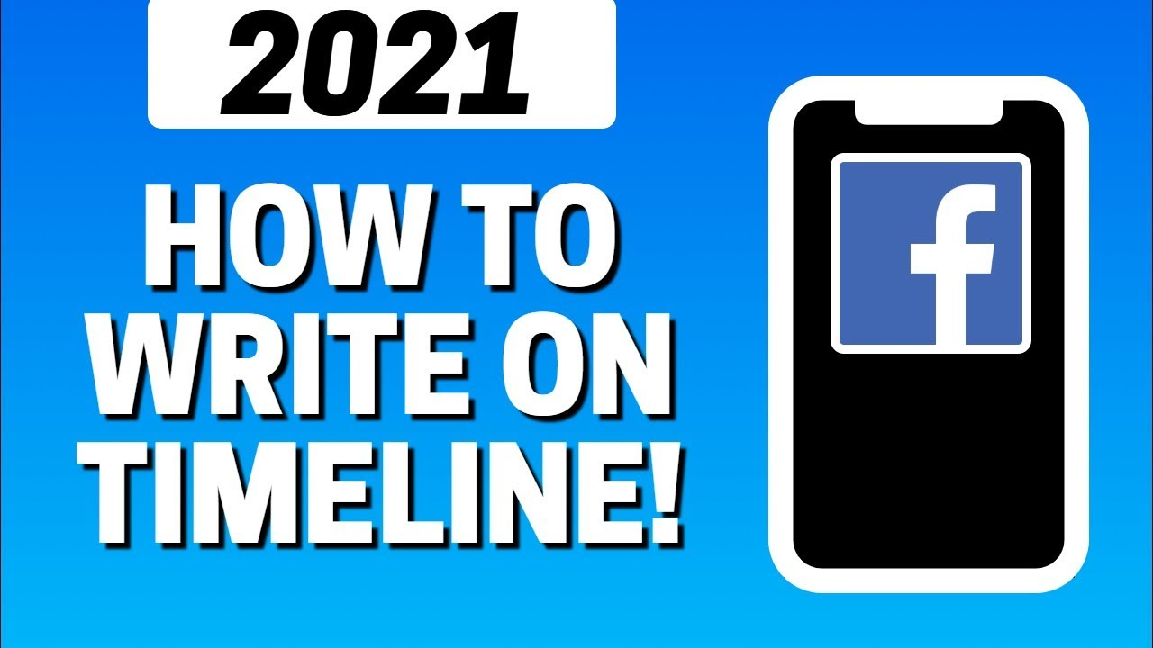 How To Write On Timeline In Facebook