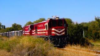 TCDD DE 24000 Kömür treni estiriyor. (Freight train in 4K video quality)