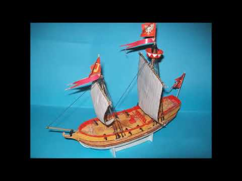 Papercraft Żółty Lew (Yellow Lion), sailing ship,1/96, Shipyard scale paper model