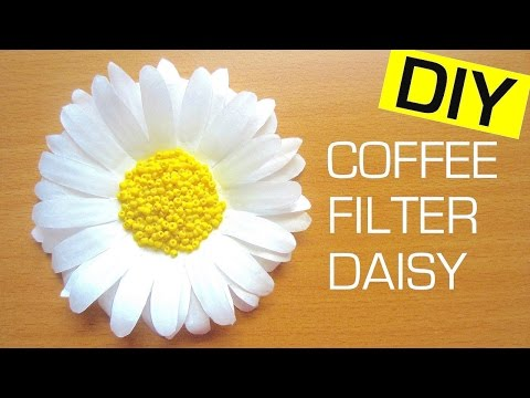 How to Make a Paper Flower (Daisy) | Coffee Filter Flower
