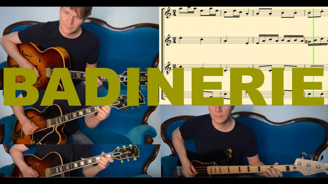 BADINERIE (J S  Bach) - Guitar Arrangement by David Plate