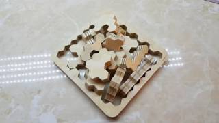 3 axis CNC Router make simple Puzzle