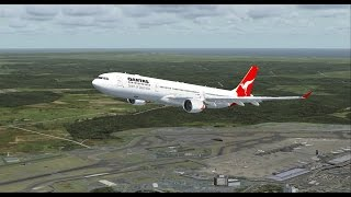 FSX Qantas flight BNE - NRT