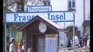 Chiemsee Schiffsfahrt vorbei an der Herreninsel und Fraueninsel im Chiemgau-Bayern