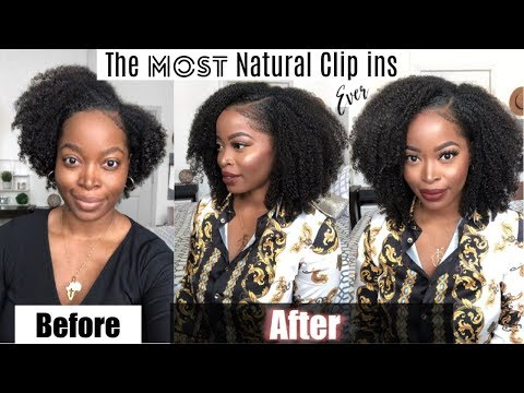 Get LONG NATURAL HAIR FAST with The BEST & Most Natural Clip ins EVER (Type 4 hair)