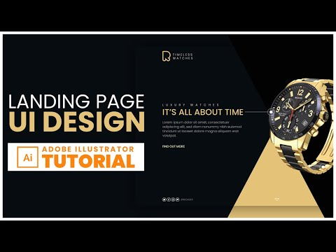 Landing Page UI Design in Adobe Illustrator - Adobe Illustrator Tutorial thumbnail