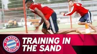 FC Bayern training in the sand 💯💨