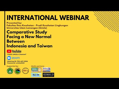 WEBINAR - INTERNATIONAL - Comparative Study Facing A New Normal Between Indonesia And Taiwan