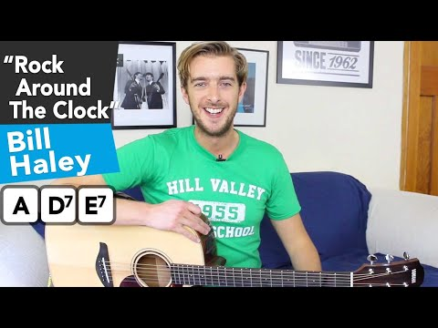 Rock Around The Clock - 3 Chord Song - EASY Guitar Lesson Tutorial