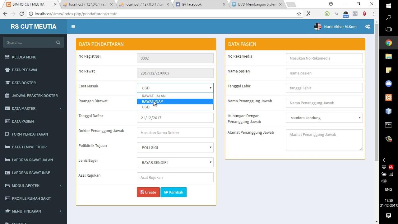 Source Code Sistem Informasi Rumah Sakit Berbasis Web