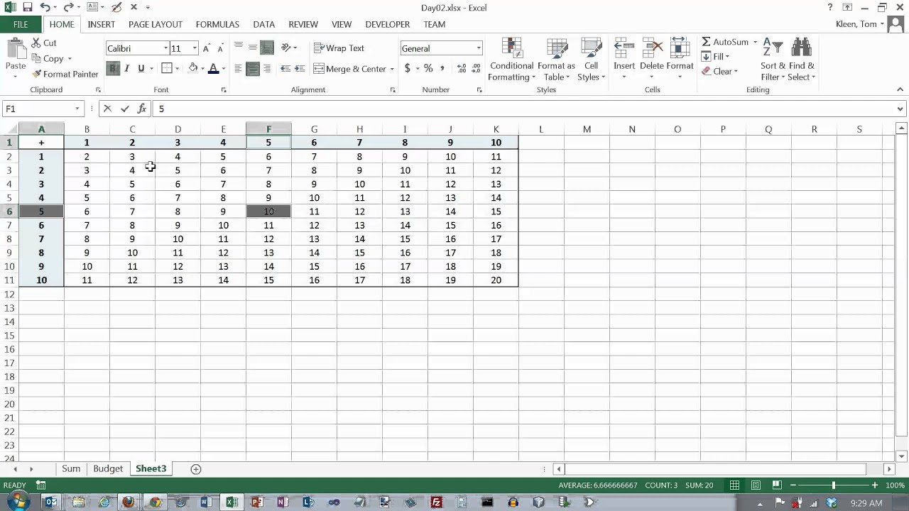 Excel Formulas 03 Mixed Cell References