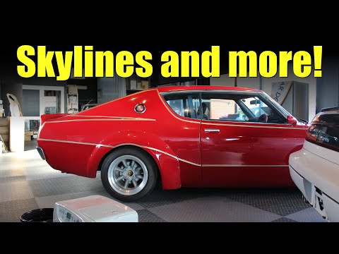 Old School JDM Garage Walkthrough - Skyline GT, GT-R, Mazda Carol, Honda Z