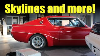 Old School JDM Garage Walkthrough - Skyline GT, GT-R, Mazda Carol, Honda Z