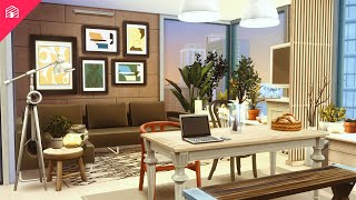 Hipster Hygge Apartment   1312 21 Chic Street   The Sims 4: Speed Build