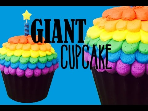 Giant Cupcake Masterclass With Rainbow Frosting My Cupcake