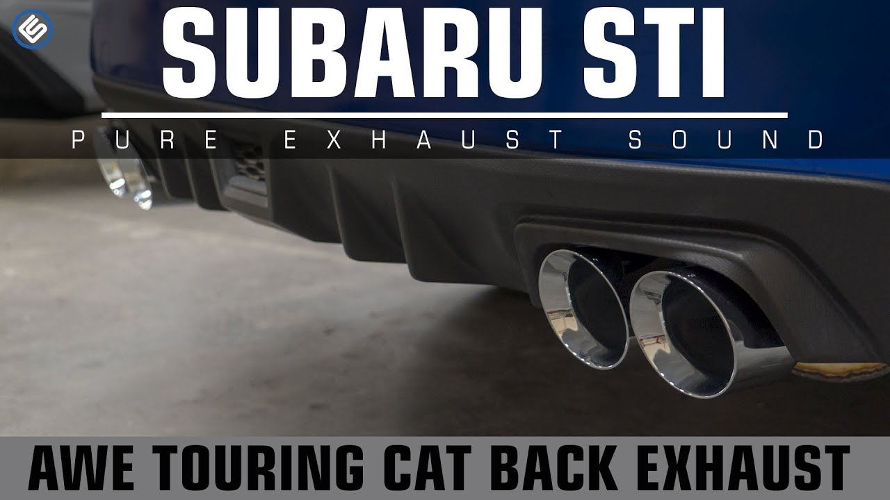 awe catback exhaust touring edition 2015 sti exhaust video