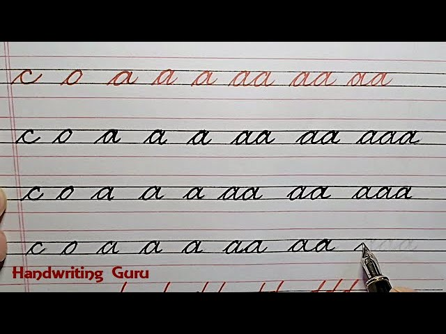 online pitiable practice sheets on how to write cursive