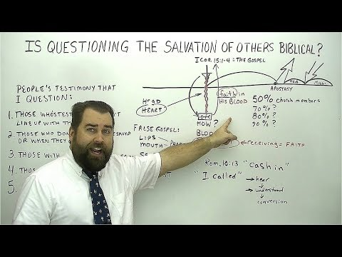 Is Questioning the Salvation of Others Biblical?
