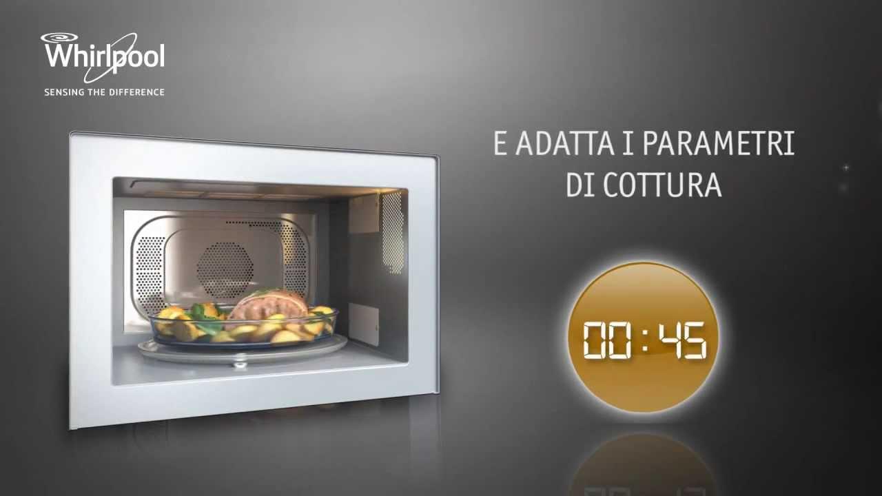Tecnologia 6 senso con sensore di umidit dei microonde whirlpool youtube - Cucinare con microonde whirlpool ...