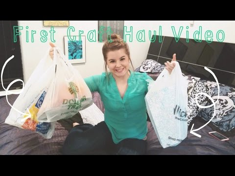 FIRST Craft Haul Video! Hobby Lobby, Dollar Tree, & Michaels//Rainbow Loom & MORE!