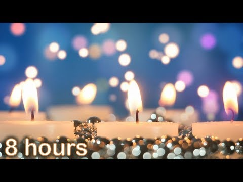 ✰ 8 HOURS ✰ Christmas INSTRUMENTAL Music ♫ MEDLEY ♫ Peaceful Candles ✰ Beautiful Christmas Music