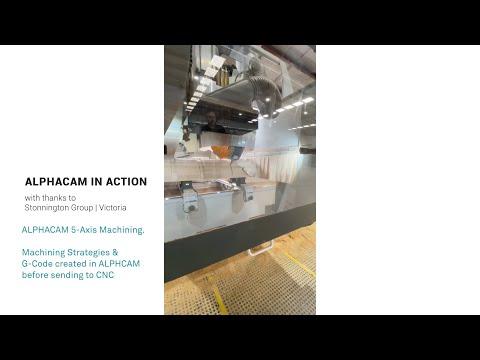 Stonnington 5-Axis Columns | ALPHACAM in Action
