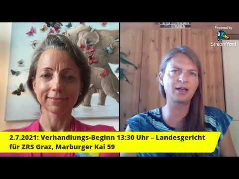KLAGE GEGEN AUVA: Verhandlung von  Dr. Baumgartner - Fr. 2.7.21 um 13:30 Uhr in Graz im LVG f. ZRS