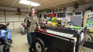 How to Lift a Utility Trailer! Axle Flip!
