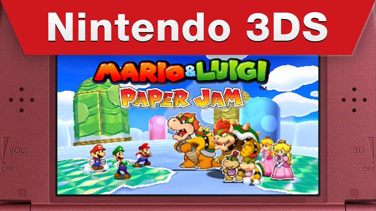 mario luigi paper jam just the fax trailer youtube
