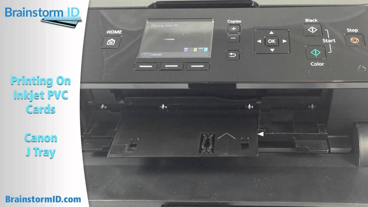 Print Pvc Cards With Inkjet Printer Canon Mg5420 Using J