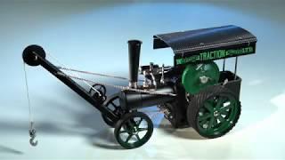 Wilesco D405 1 tracteur à vapeur avec grue