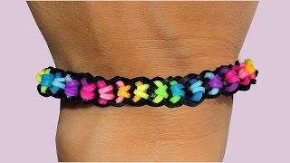 Rainbow Loom Nederlands Boxed Bow Bracelet Loom Bands Tutorial armband