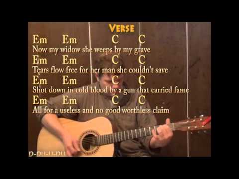 Fire on the Mountain (Marshall Tucker) Guitar Cover Lesson with Chords Lyrics on Screen