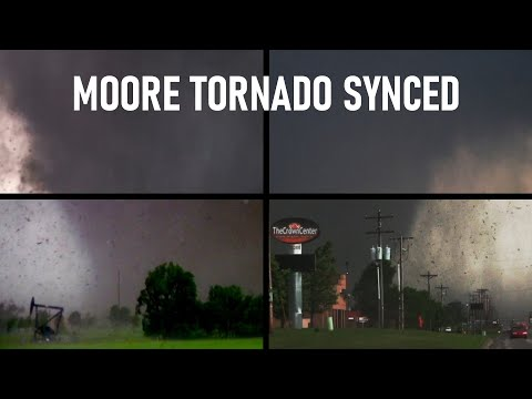 2013 Moore EF5 Tornado Synced