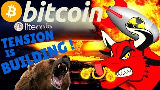🌟BITCOIN TENSION IS BUILDING🌟bitcoin litecoin price prediction, analysis, news, trading