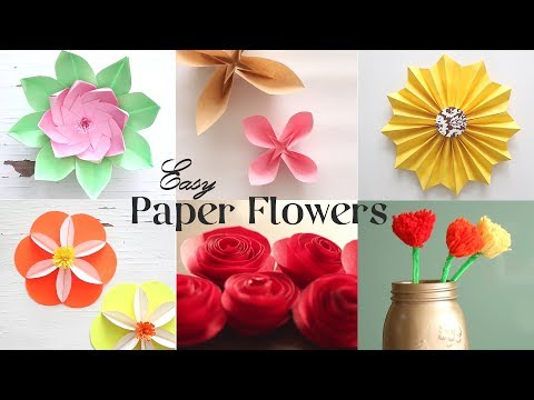 6 Easy Paper Flowers | 8 Petal Lotus  (Author: Paper Kawaii)