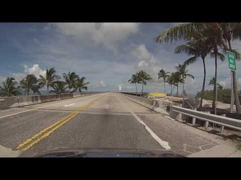 Florida Keys - Driving across the Seven Mile Bridge HD (2016)