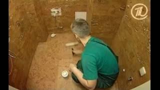 видео Пробковые полы в ванной комнате!?