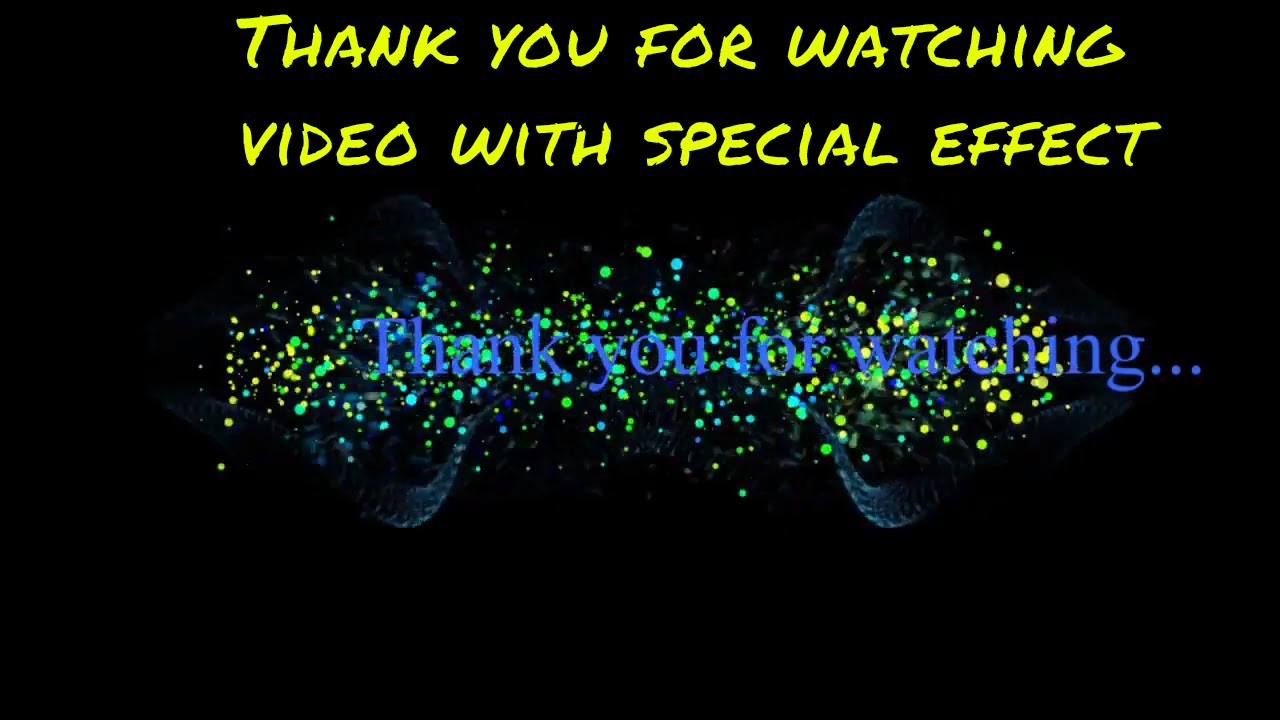 Thank you for watching video animation with video effect - YouTube