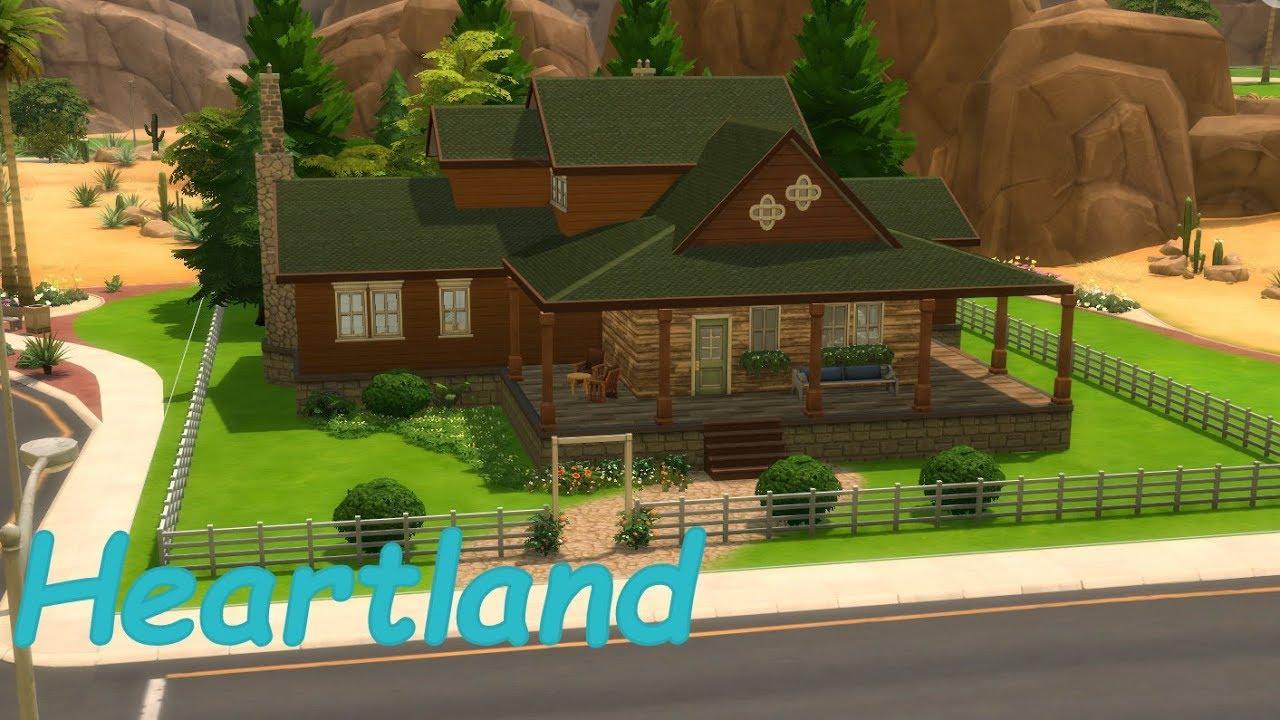Sims 4 heartland house speedbuild youtube for Heartland house