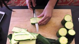 how to cut thin layers of zucchini