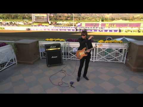 Richie Sambora plays the Call to the Post on guitar