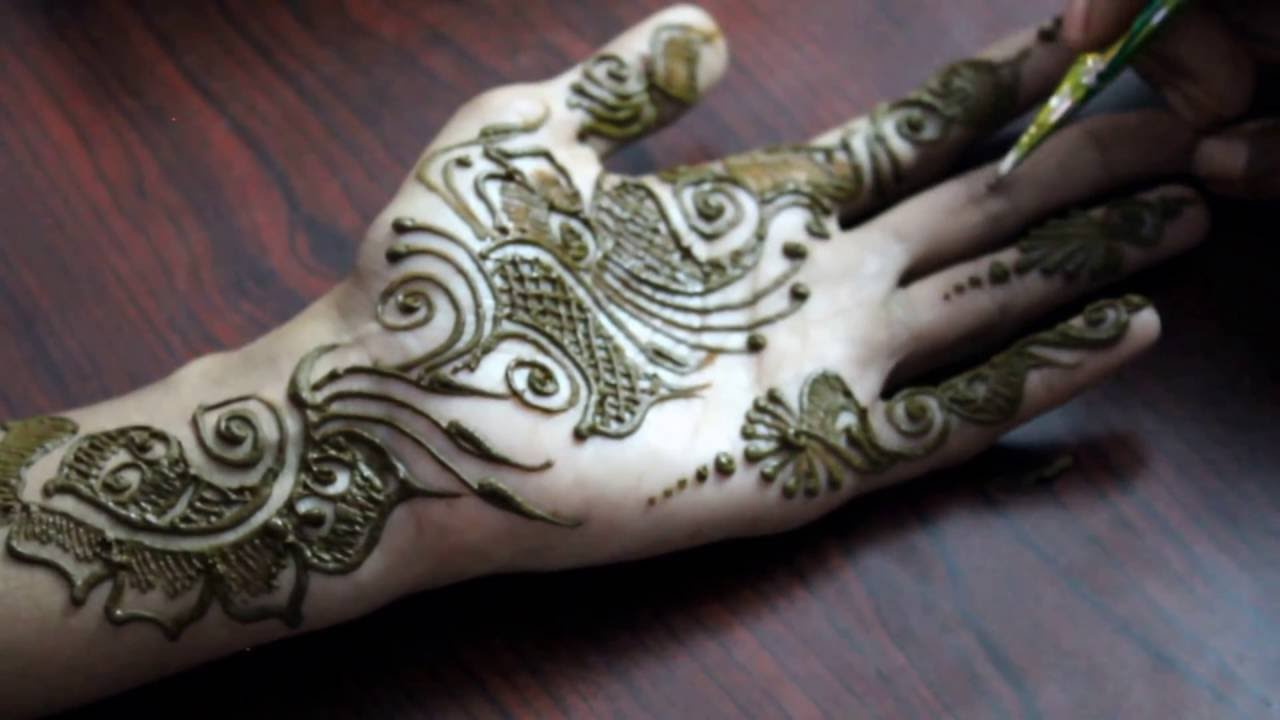 Mehndi Designs For One Hands : One of the best simple arabic mehndi design for hand youtube