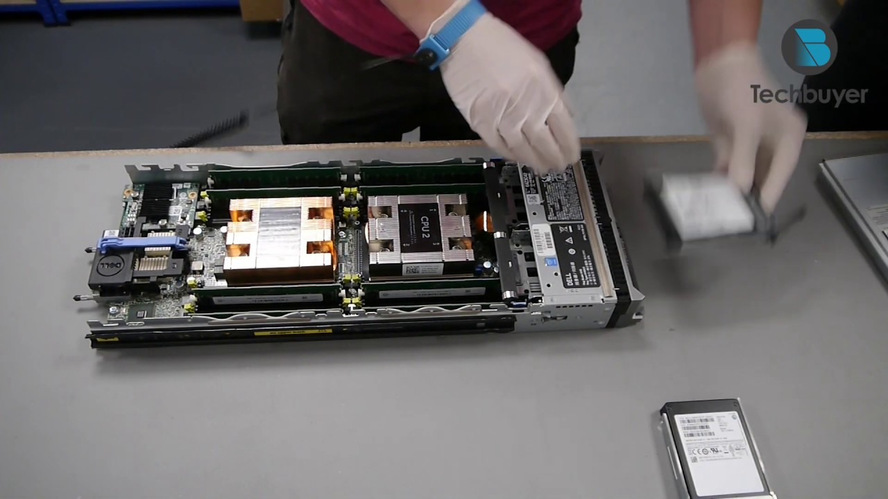 Dell PowerEdge M630 Blade Server Build - YouTube