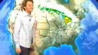 Clay Aiken does the weather of WRAL 5/2003