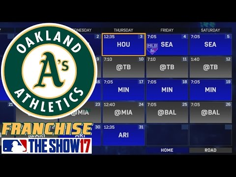 Decent Start to the Year - MLB The Show 17 - Franchise Mode - Oakland ep. 9