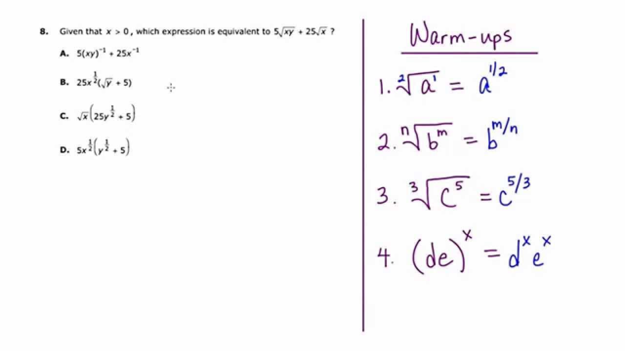 Mathcamp321 Parcc Algebra 2 Practice Test Question 8 border=