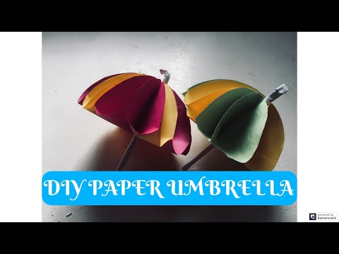 How To Make DIY Paper Umbrella Very Easy | You Can DIY  | Decoration Ideas