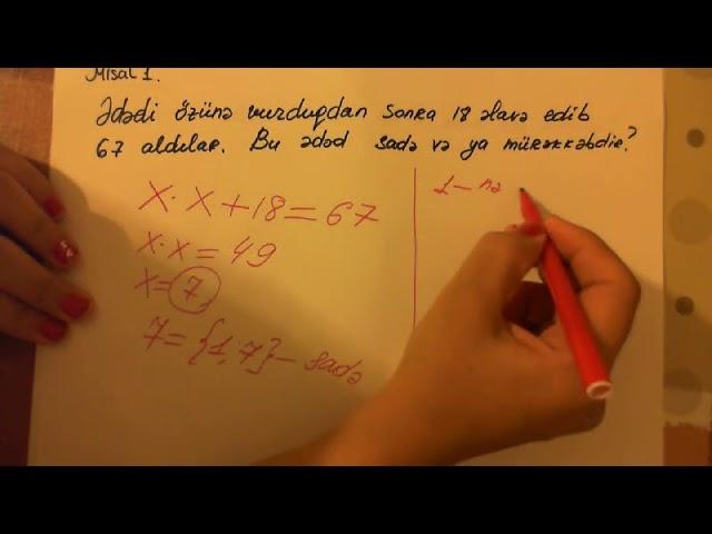 6 Sinif Sade Ve Murekkeb Ededler Youtube